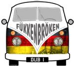 FUKKENBROKEN Funny Slogan For Retro SPLIT SCREEN VW Camper Van Bus Design External Vinyl Car Sticker 90x80mm